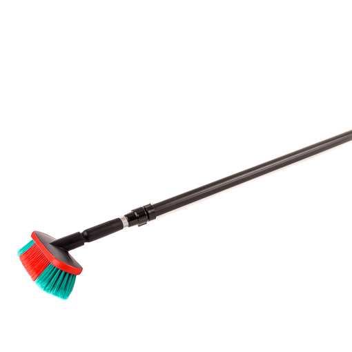 Cleaning brush with telescopic pole