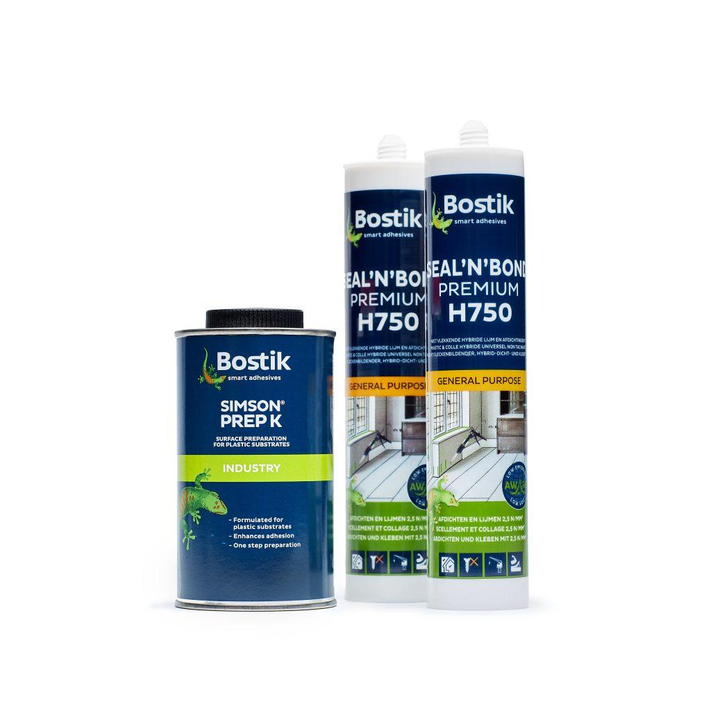Bostik adhesive set Seal'n'bond mit Prep K