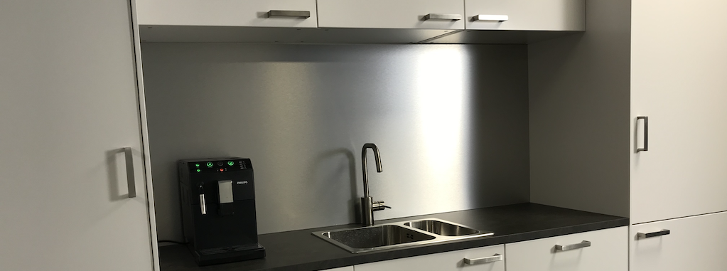 Aluminium composite panel kitchen splashback