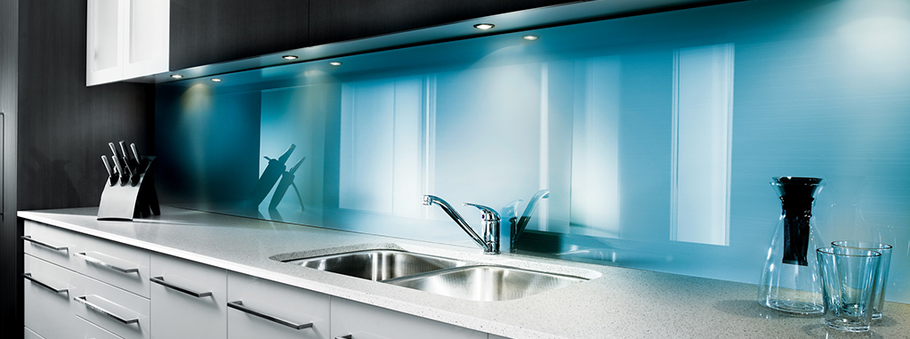 Plastic-kitchen-splashback-blue