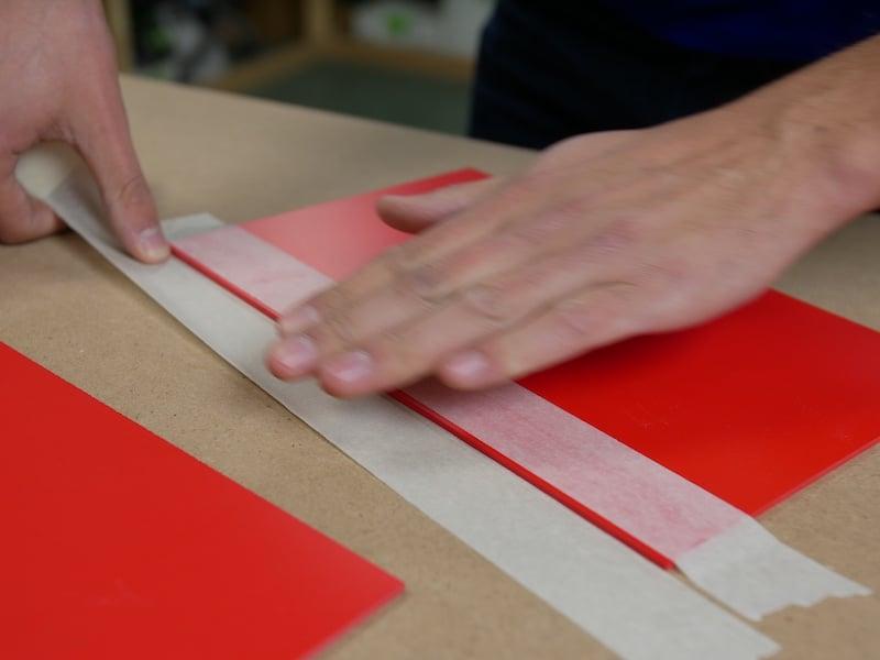 Gluing PVC preparation