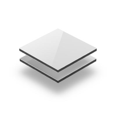 Aluminium composite panel gloss white RAL 9003