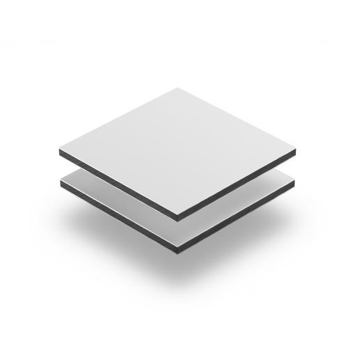 Aluminium composite panel matt white RAL 9003
