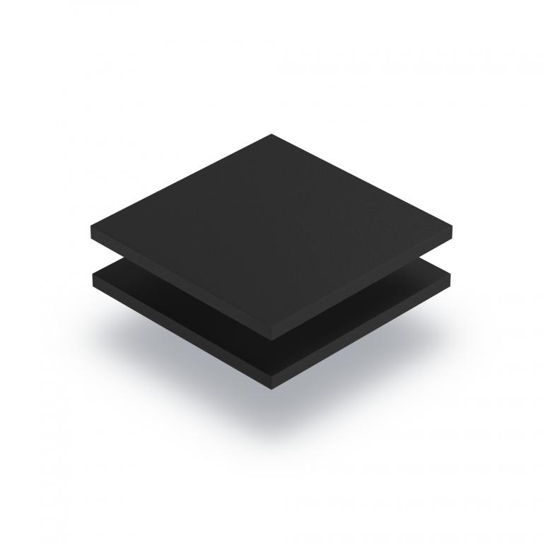 Black PVC foam sheet RAL 9004