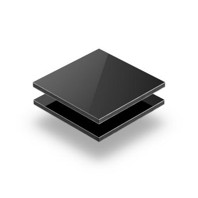 Black aluminium composite panel RAL 9005
