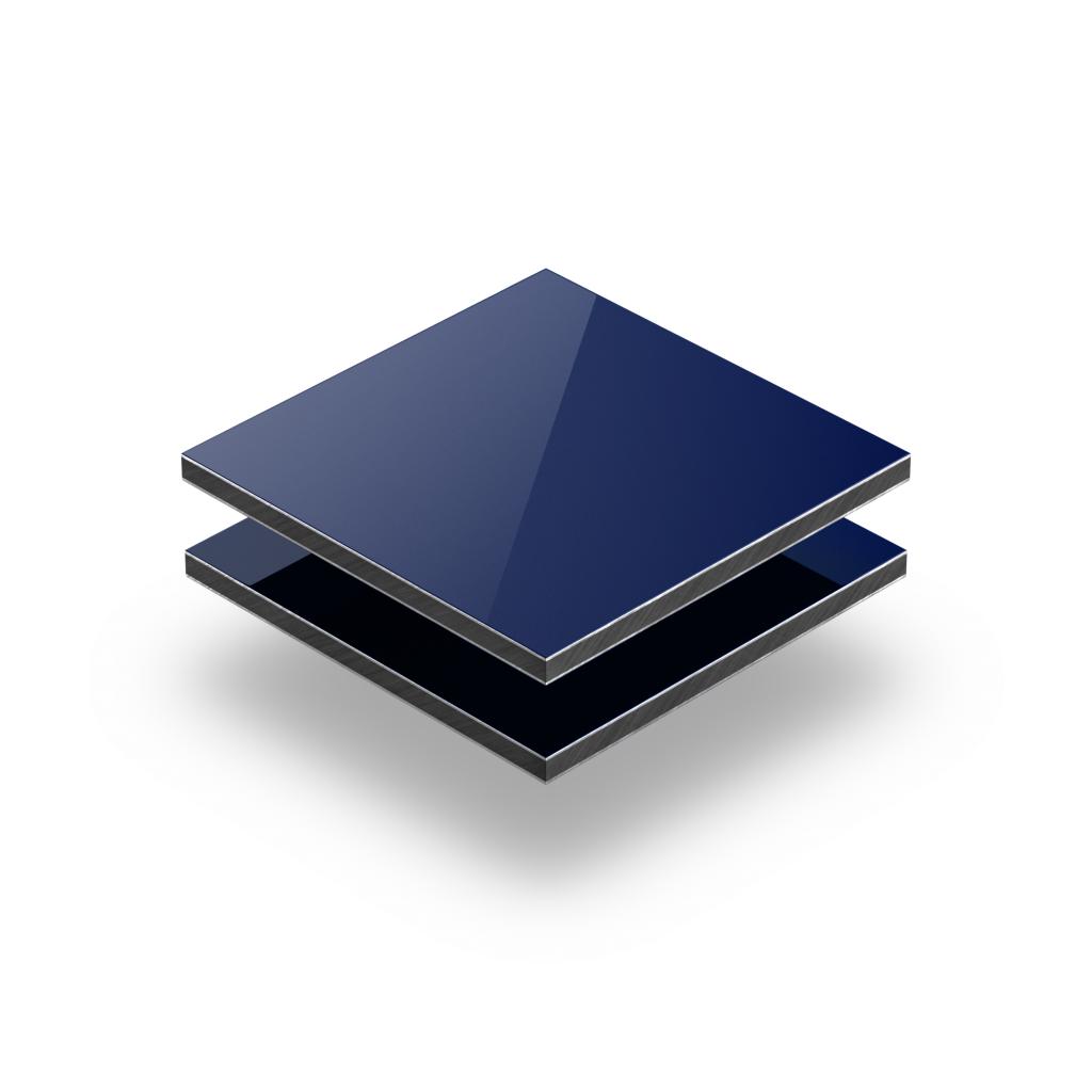 Blue aluminium composite panel RAL 5002