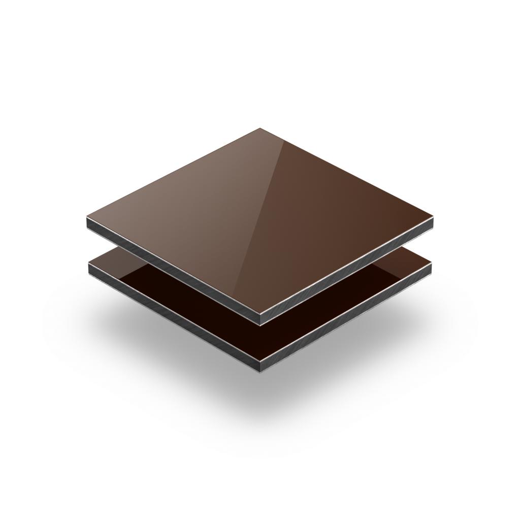 Brown aluminium composite panel RAL 8011