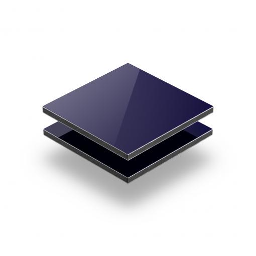 Dark blue aluminium composite panel RAL 5022