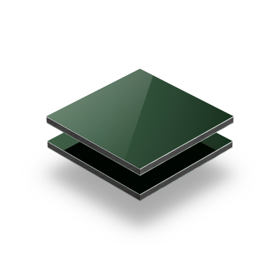 Dark green aluminium composite panel RAL 6005