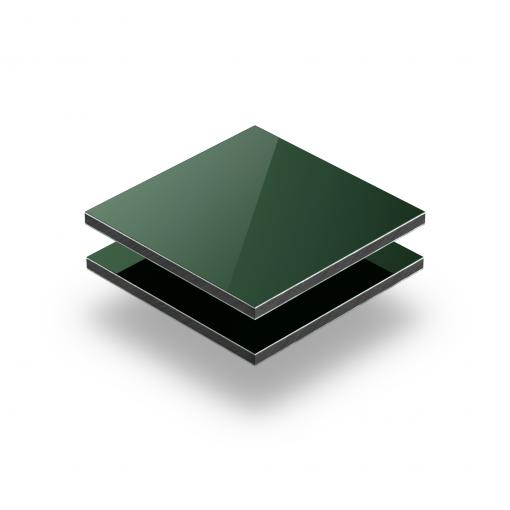 Dark green aluminium composite panel RAL 6005