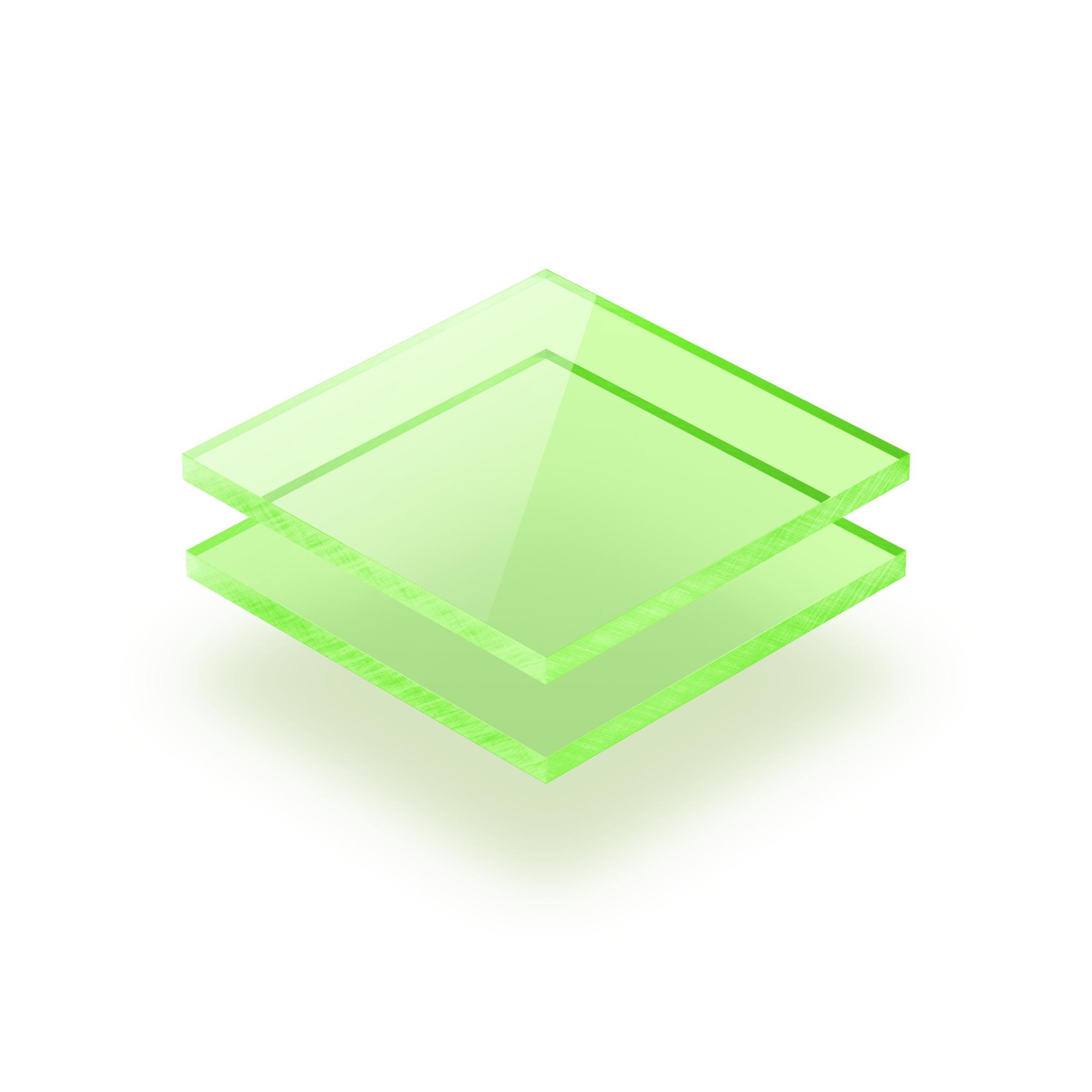 Fluorescent Acrylic Sheet Green 10 Mm Plasticsheetsshop