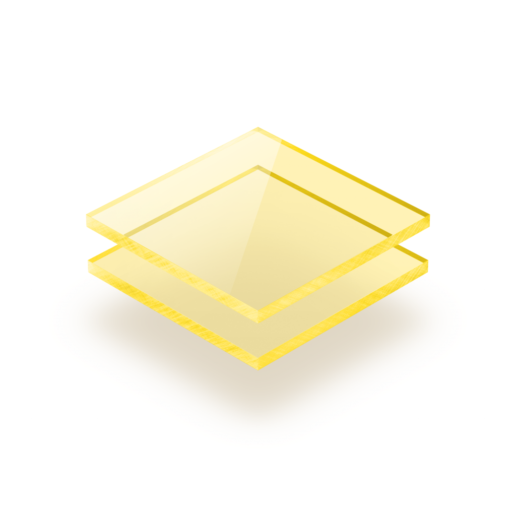 Fluorescent acrylic sheet yellow