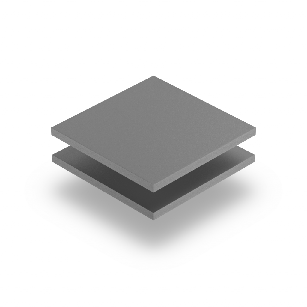 Grey PVC foam sheet RAL 7005
