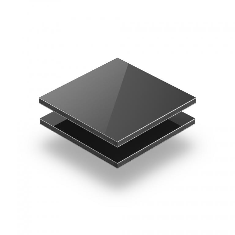 Grey aluminium composite panel RAL 7016