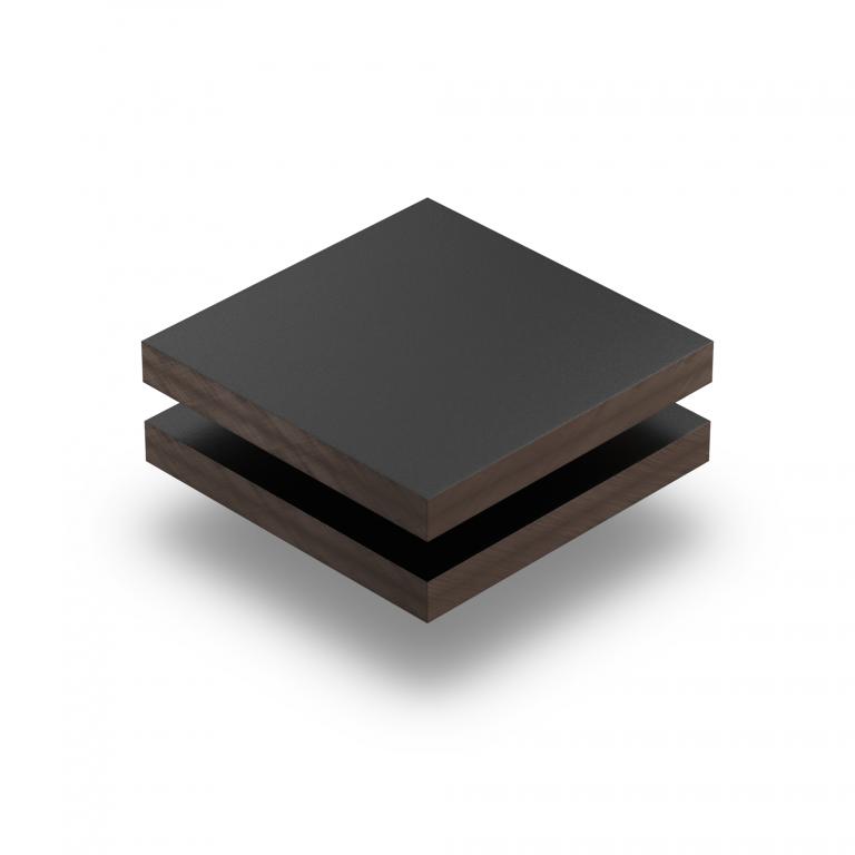 HPL texture sheet 6 mm jet black RAL 9005