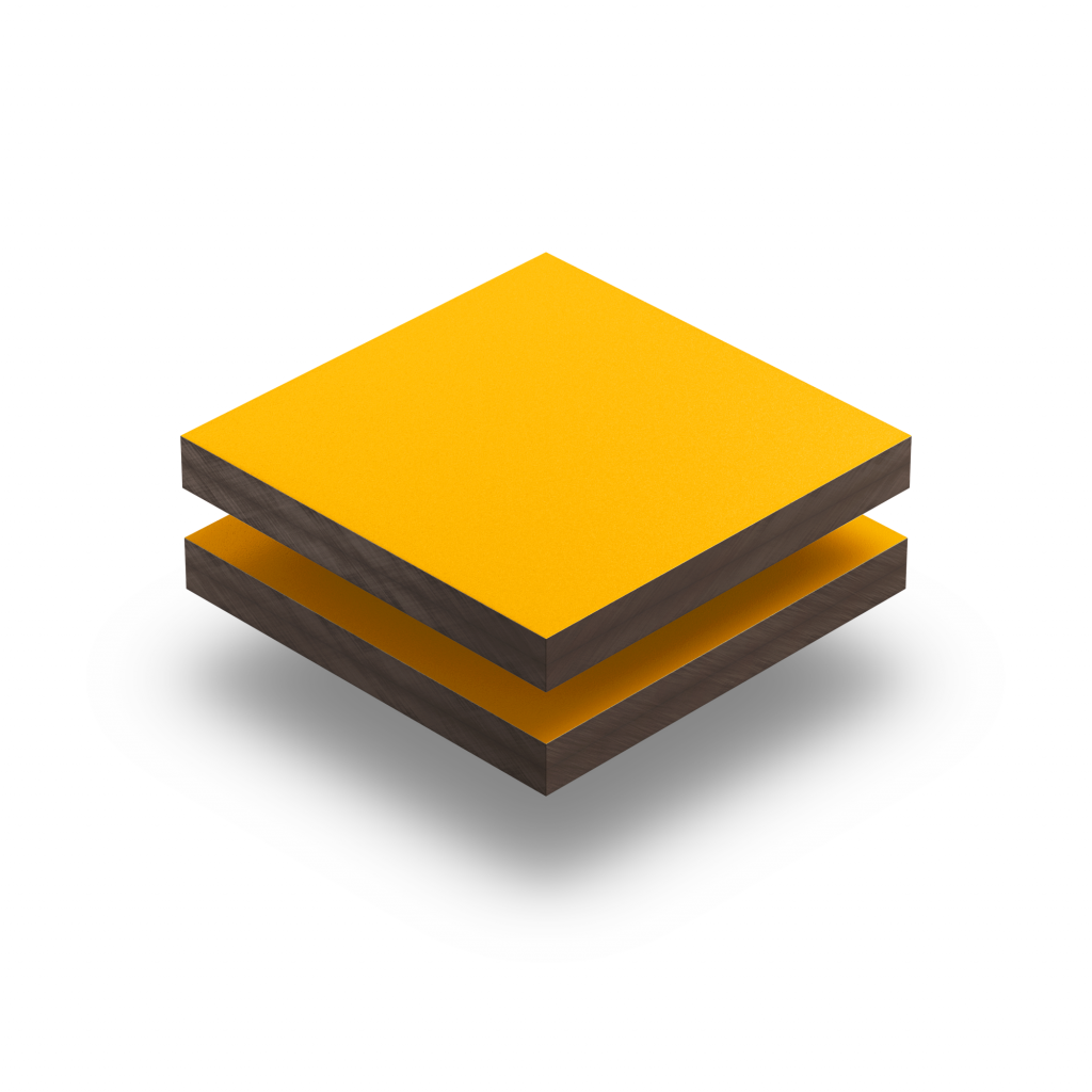 HPL texture sheet 6 mm signal yellow RAL 1003