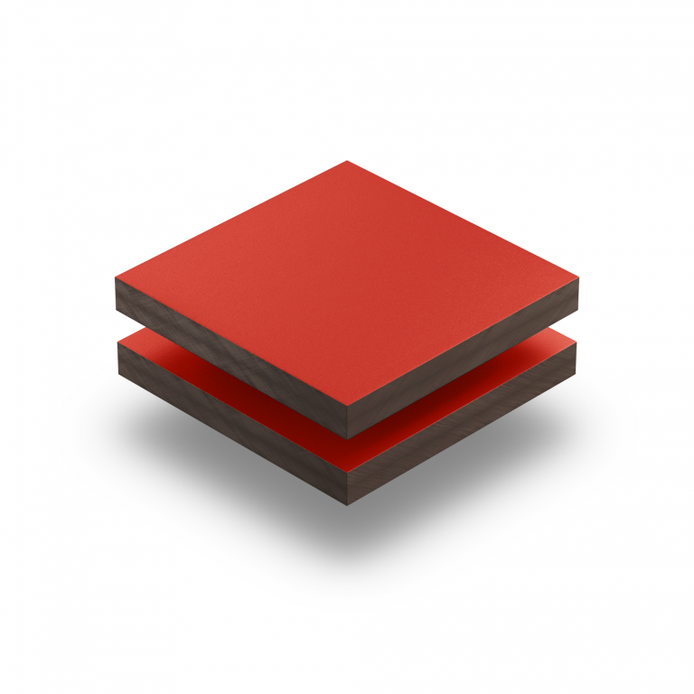 HPL texture sheet 6 mm traffic red RAL 3020