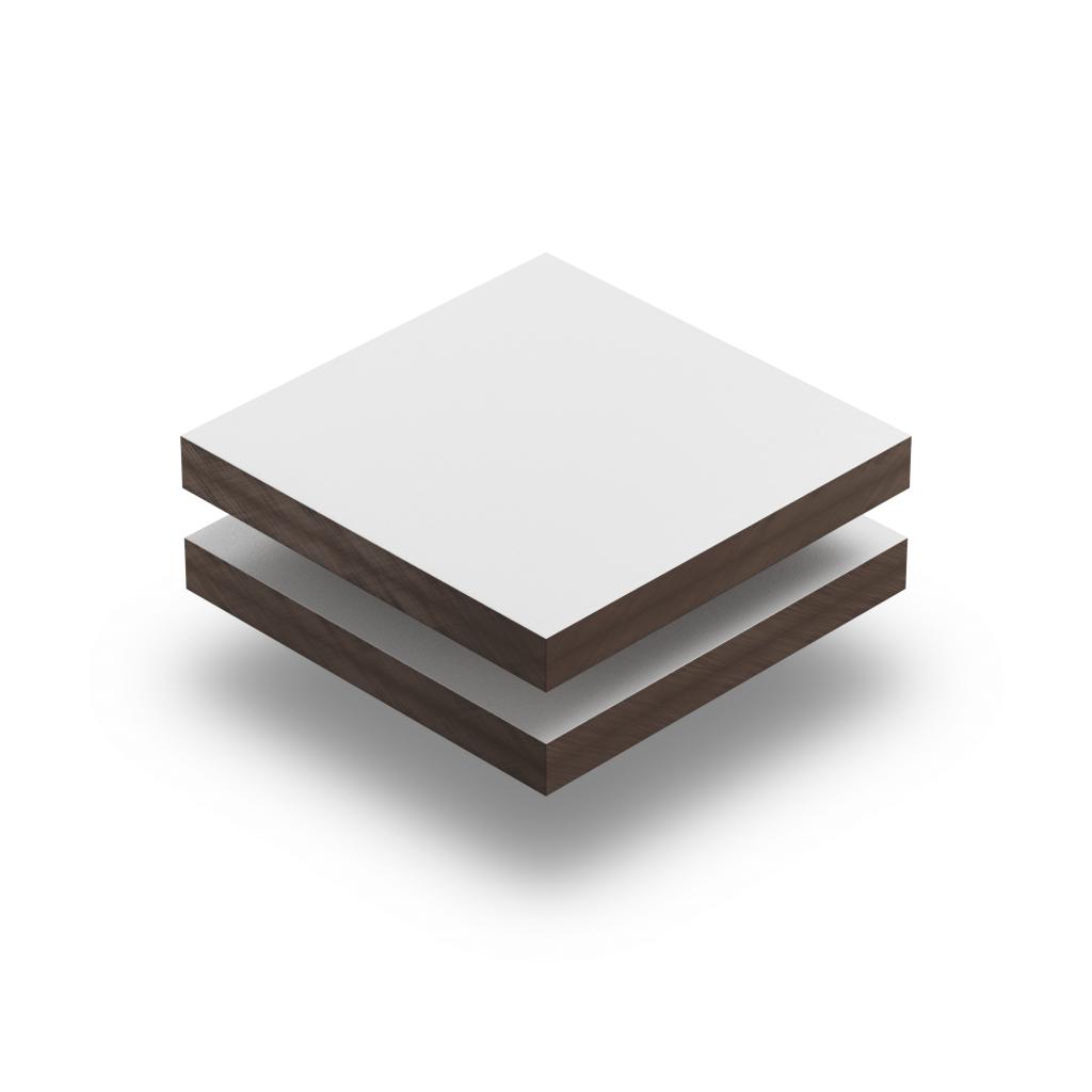 HPL texture sheet 6 mm traffic white RAL 9016