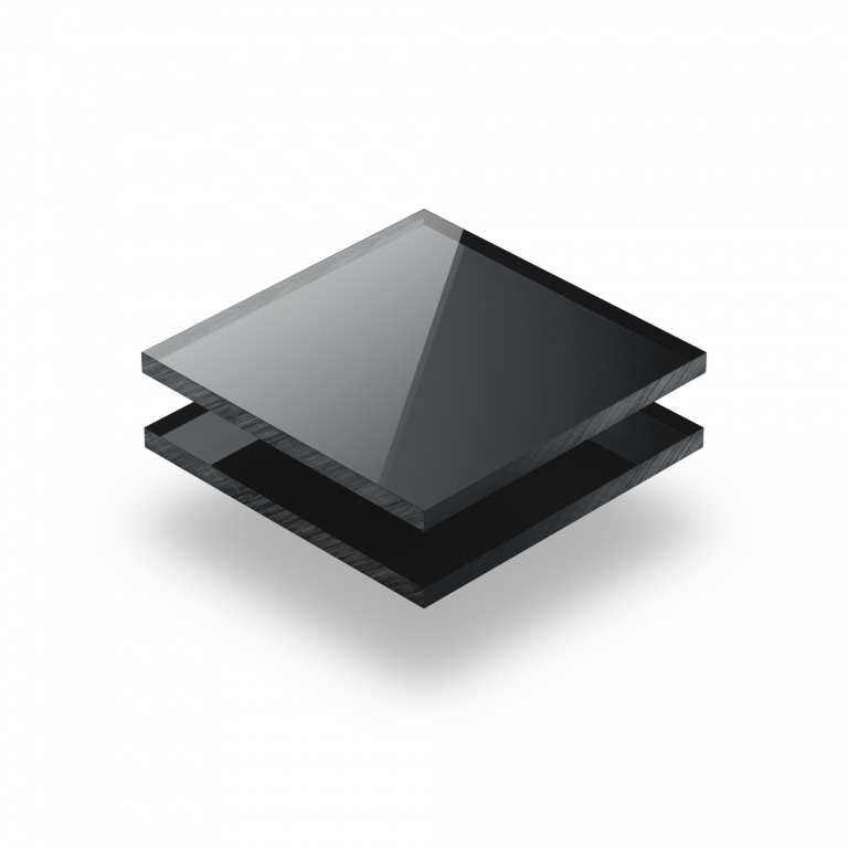 Mirrored acrylic sheet anthracite 3 mm