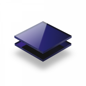 Mirrored acrylic sheet blue 3 mm