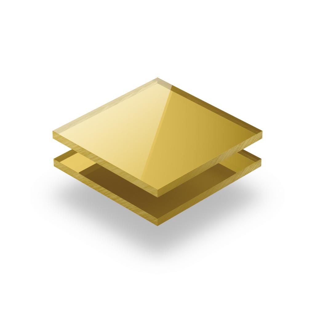 Mirrored acrylic sheet gold 3 mm