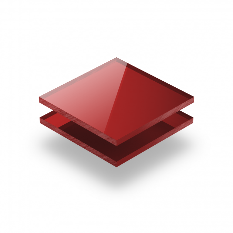 Mirrored acrylic sheet red 3 mm