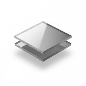 Mirrored acrylic sheet silver