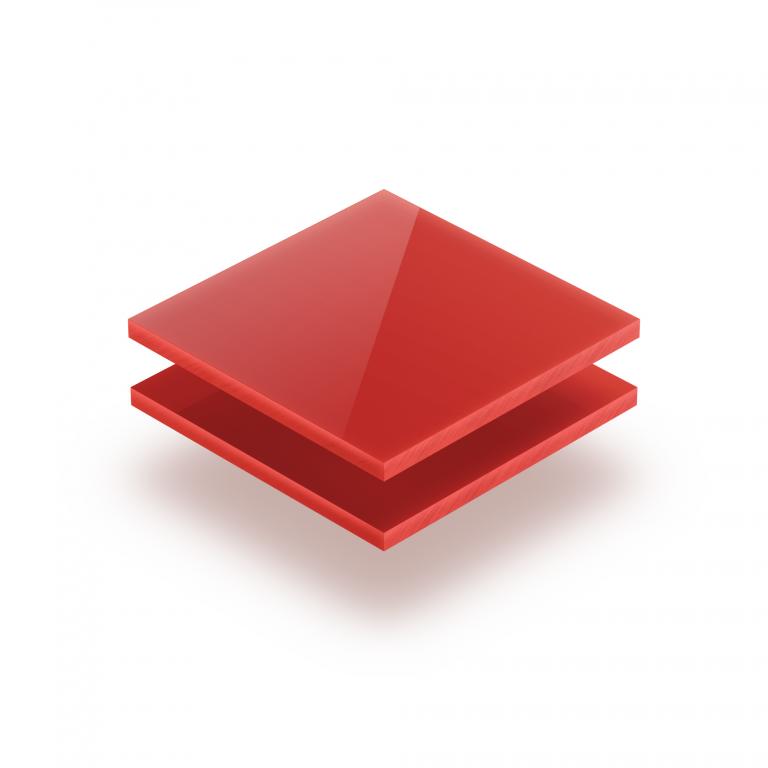 Opal red acrylic sheet 3 mm