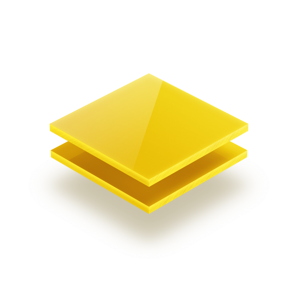 Opal yellow acrylic sheet 3 mm