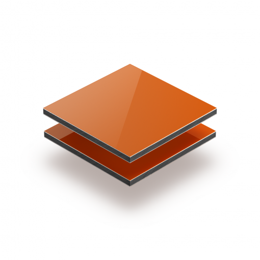 Orange aluminium composite panel RAL 2004