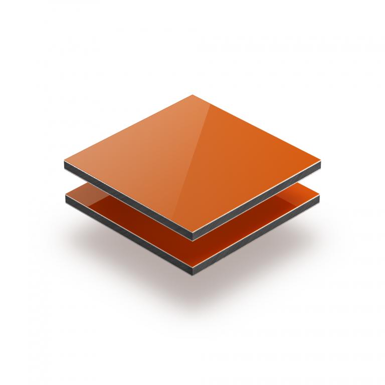 Orange aluminium composite panel RAL 2004