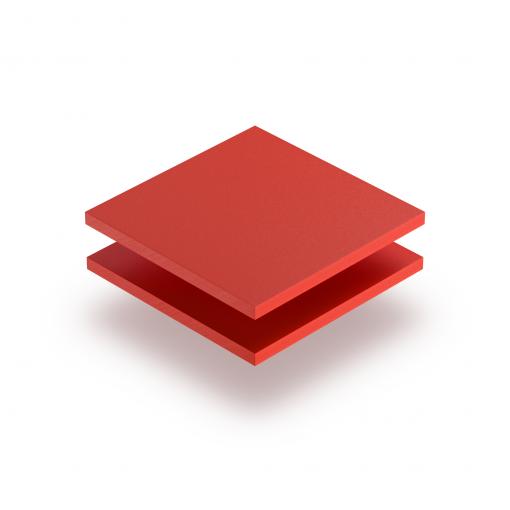 Red PVC foam sheet RAL 3020
