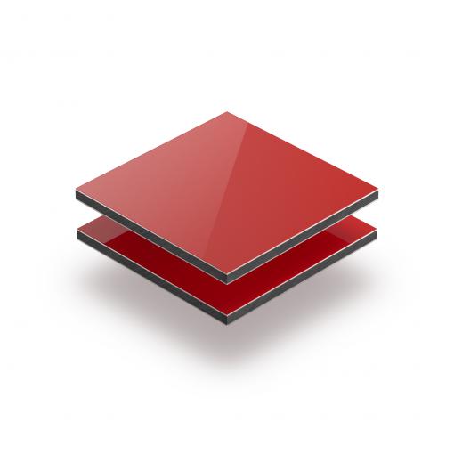 Red aluminium composite panel RAL 3020