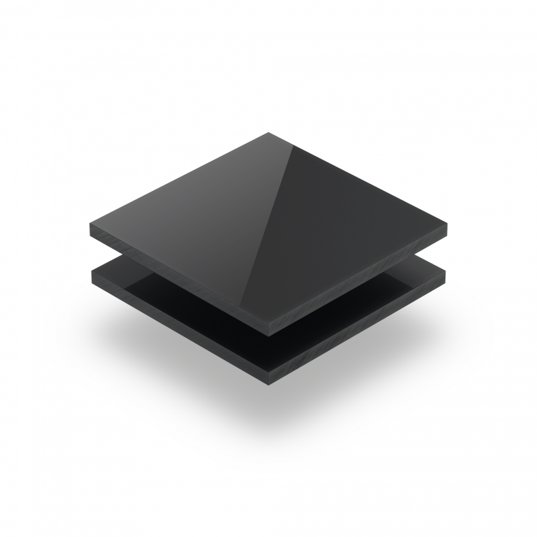 Satin acrylic sheet gloss anthracite