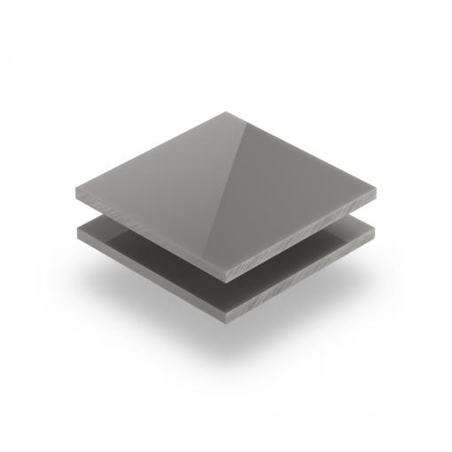 Satin acrylic sheet gloss cement grey