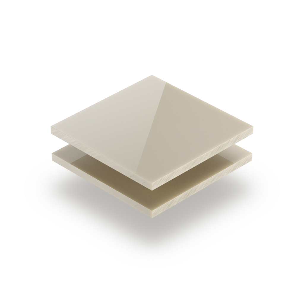 Satin acrylic sheet gloss cream