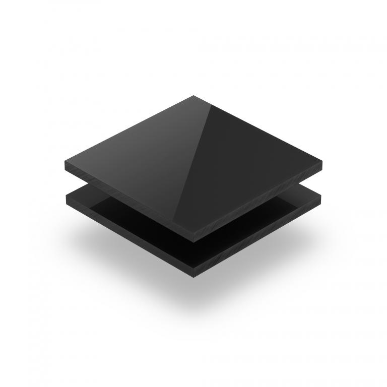 Satin acrylic sheet gloss ebony