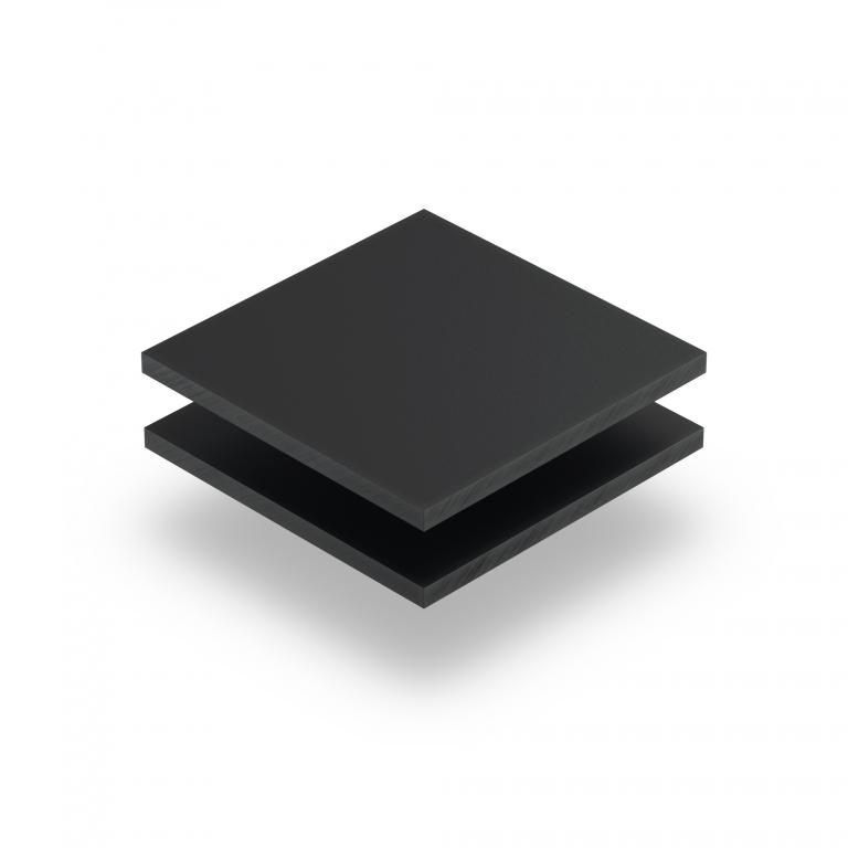 Satin acrylic sheet matt anthracite