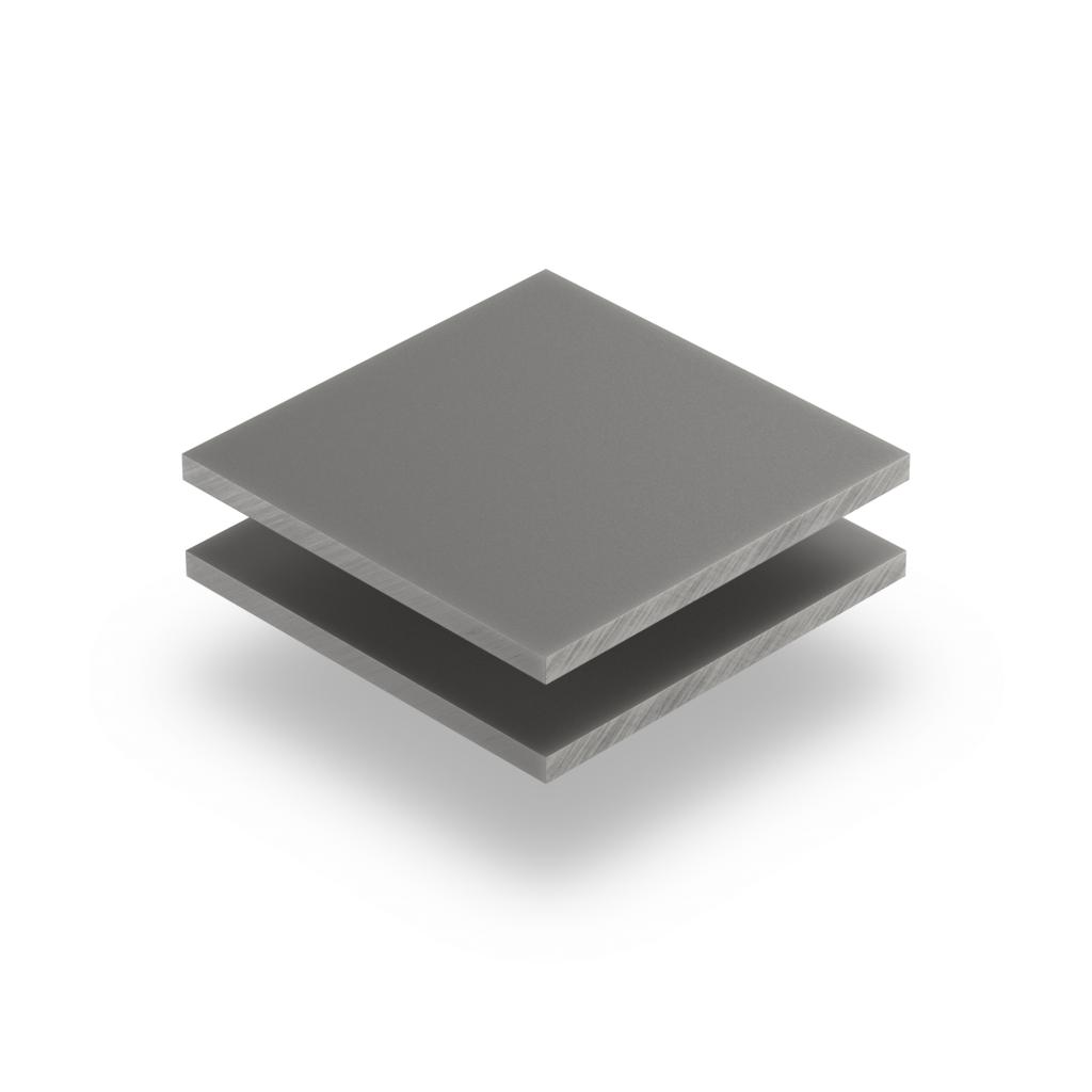 Satin acrylic sheet matt cement grey