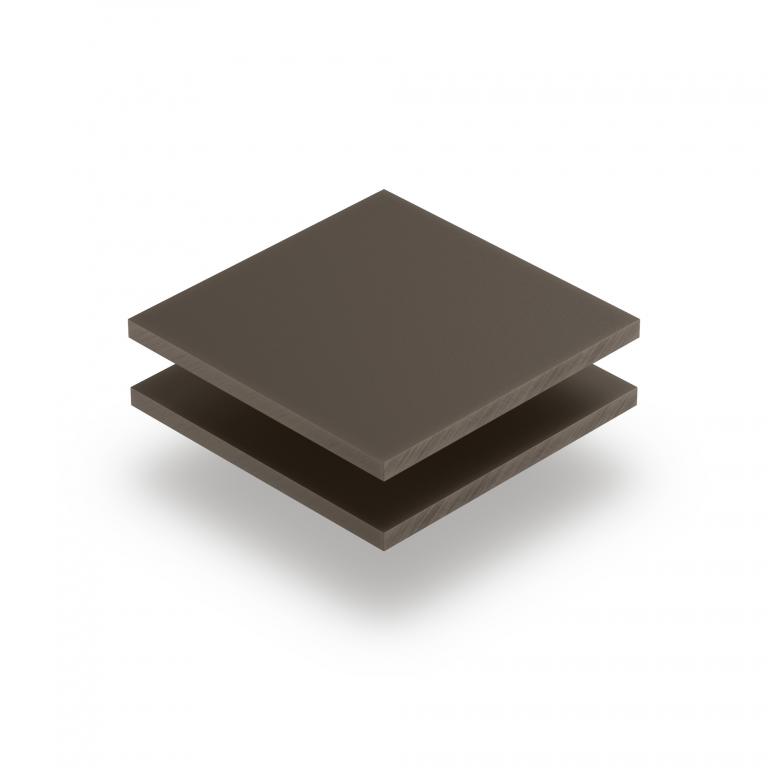 Satin acrylic sheet matt clay