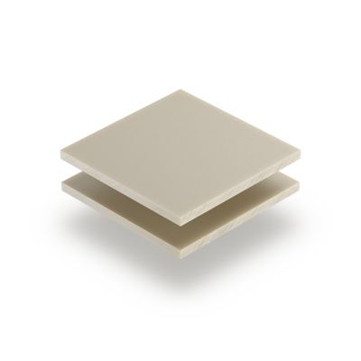 Satin acrylic sheet matt cream