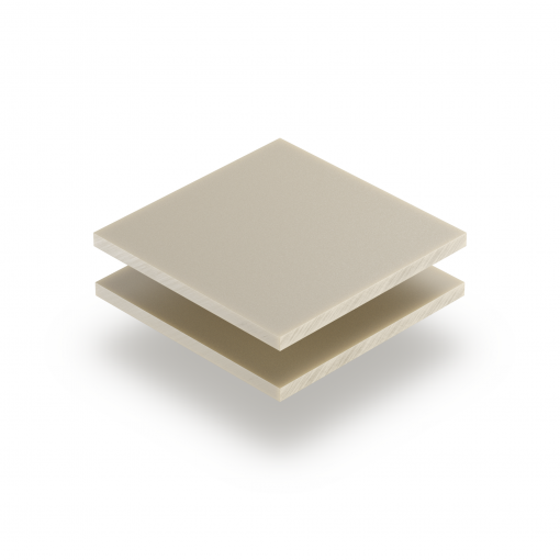 Satin acrylic sheet matt cream