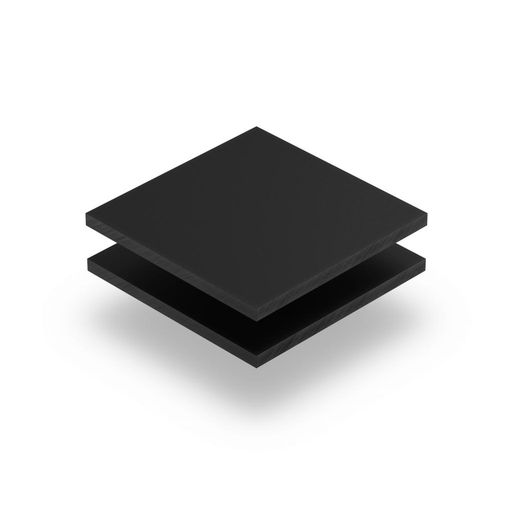 Satin acrylic sheet matt ebony
