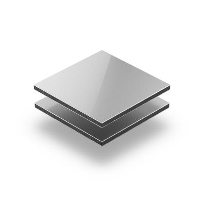Silver aluminium composite panel RAL 9006