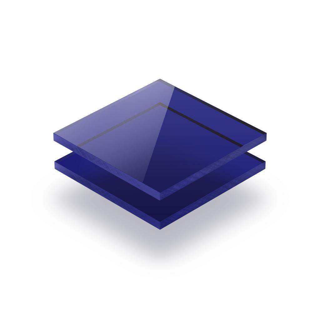 Tinted acrylic sheet blue 3 mm