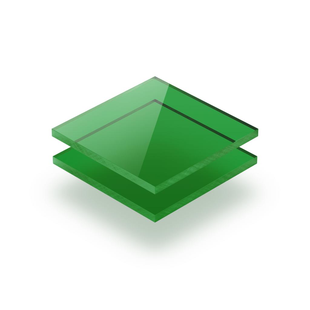 Tinted acrylic sheet green 3 mm