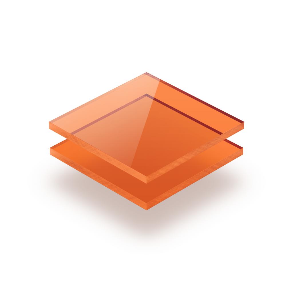 Tinted acrylic sheet orange 3 mm