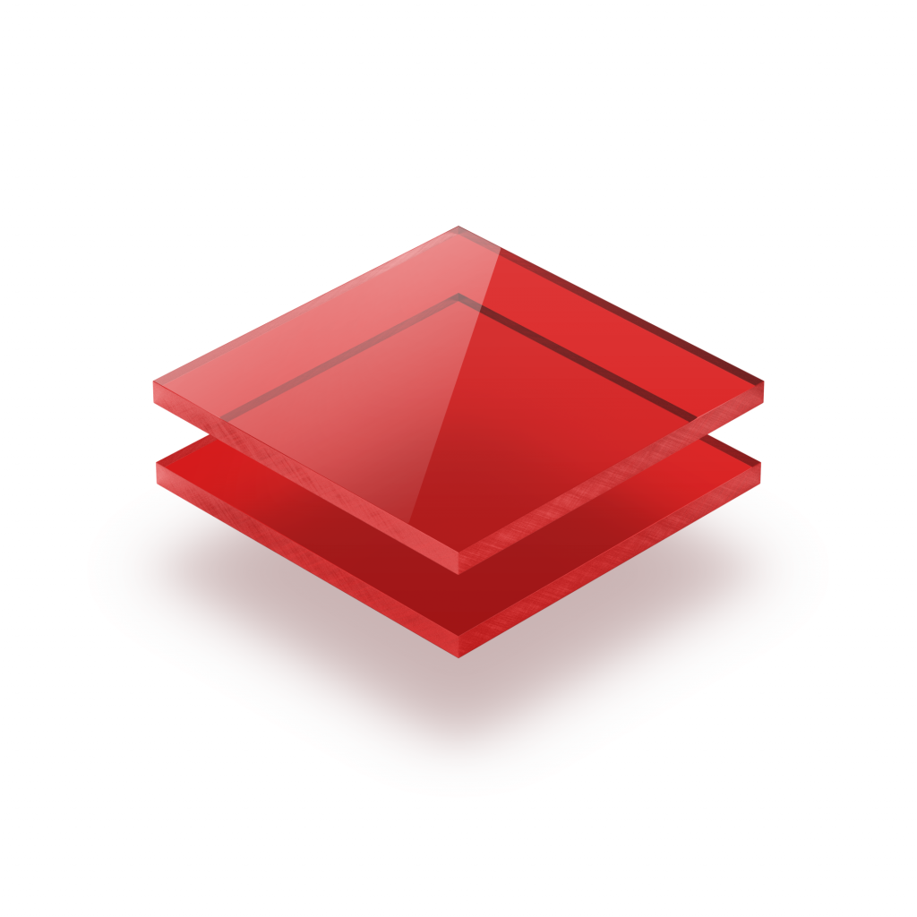 Tinted acrylic sheet red 3 mm