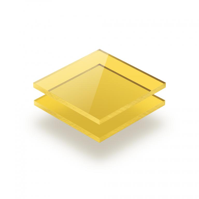 Tinted acrylic sheet yellow 3 mm