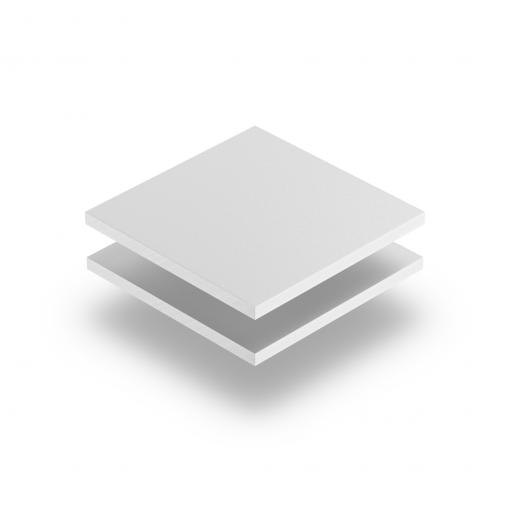 White PVC foam sheet RAL 9003